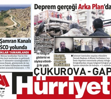 Deprem Gerçeği Hürriyet manşetinde...