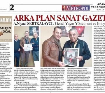 Yalçın Öcal bey, Metropol Gazetesinde gazetemize yer verdi