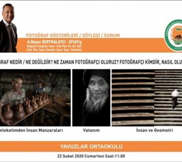 A.Niyazi Sertkalaycı, 22 Şubat saat 11'de Yüreğir Halk Eğitim Merkezinde...