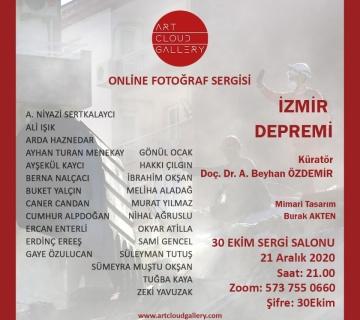 İzmir Depremi fotoğraf sergisi Art Cloud Gallery'de